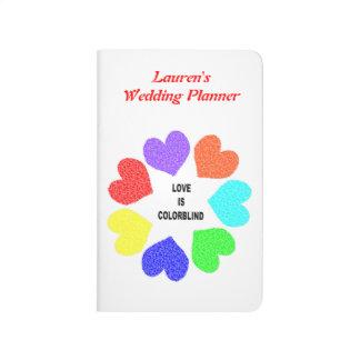 interracial Love Rainbow Hearts Custom Wedding Journal