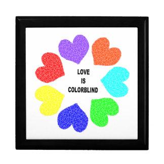 Interracial Love Rainbow Hearts Gift Box