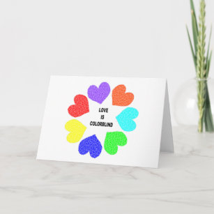 Interracial cards zazzle uk interracial love rainbow hearts greeting card m4hsunfo