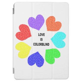 Interracial Love Rainbow Hearts iPad Cover