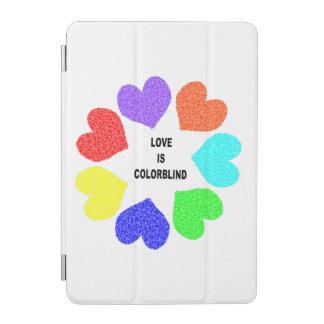 Interracial Love Rainbow Hearts iPad Mini Cover