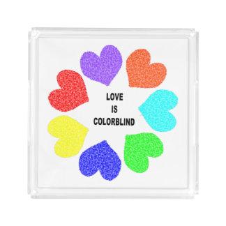 Interracial Love Rainbow Hearts Perfume Tray