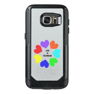 Interracial Love Rainbow Hearts Phone Case