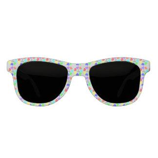 Interracial Love Rainbow Hearts Sunglasses