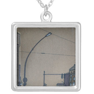 intersection 3 square pendant necklace