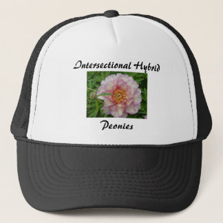 Intersectional Peony Hat, Black Trucker Hat