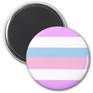 Intersex Pride Flag 6 Cm Round Magnet