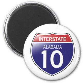 Interstate 10 Alabama Magnet