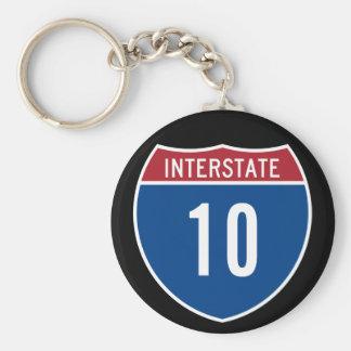 Interstate 10 key ring