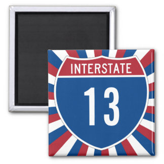 Interstate 13 square magnet