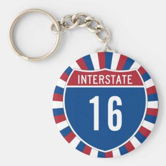 Interstate 16 key ring