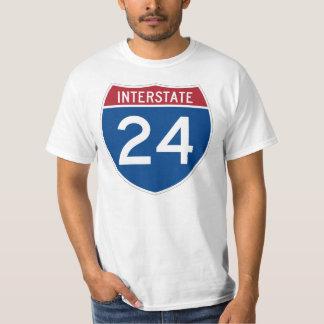 Interstate 24 (I-24) Highway Sign T-Shirt