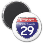 Interstate 29 North Dakota Magnet