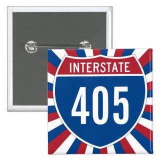 Interstate 405 15 cm square badge