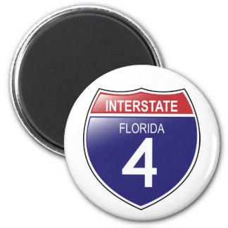 Interstate 4 Florida Magnet