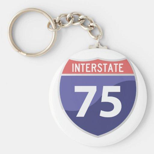 Interstate 75 (I-75) Highway Road Trip Keychains