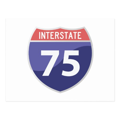 Interstate 75 (I-75) Highway Road Trip Post Cards