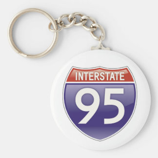 Interstate 95 | Best Gifts Basic Round Button Key Ring