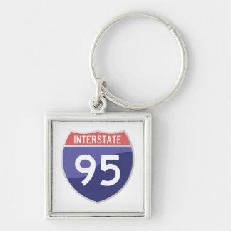 Interstate 95 (I-95) Road Trip Travel Keychain