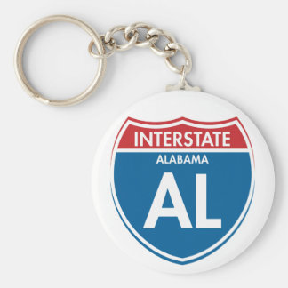 Interstate Alabama AL Key Ring