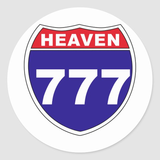 """Interstate"" Heaven 777 Classic Round Sticker"