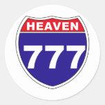 """""""Interstate"""" Heaven 777 Round Stickers"""