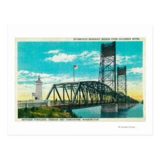 Interstate Highway Bridge over Columbia River Postcard