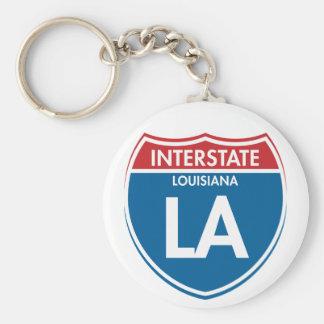 Interstate Louisiana LA Key Ring