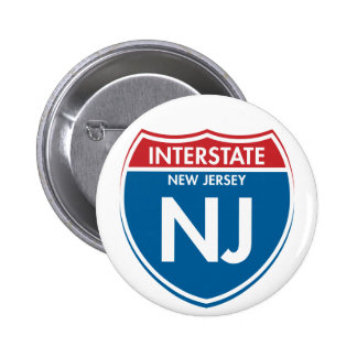 Interstate New Jersey NJ 6 Cm Round Badge
