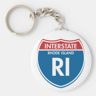 Interstate Rhode Island RI Key Ring