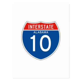 Interstate Sign 10 - Alabama Postcard
