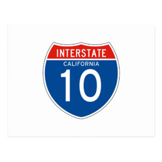 Interstate Sign 10 - Californian Post Cards