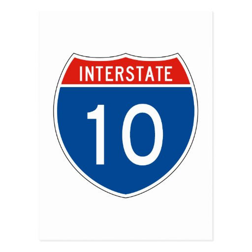 Interstate Sign 10 Post Cards