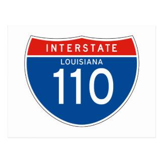 Interstate Sign 110 - Louisiana Postcard
