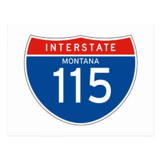 Interstate Sign 115 - Montana Postcard