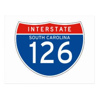 Interstate Sign 126 - South Carolina Postcard