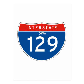 Interstate Sign 129 - Iowa Postcard
