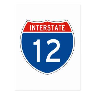 Interstate Sign 12 Postcard