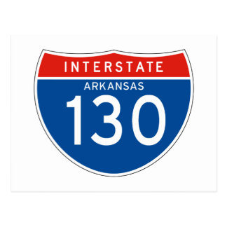 Interstate Sign 130 - Arkansas Postcard