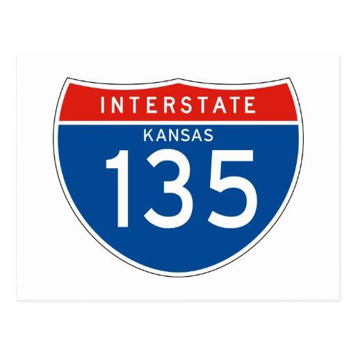 Interstate Sign 135 - Kansas Post Card