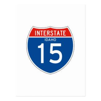 Interstate Sign 15 - Idaho Postcard