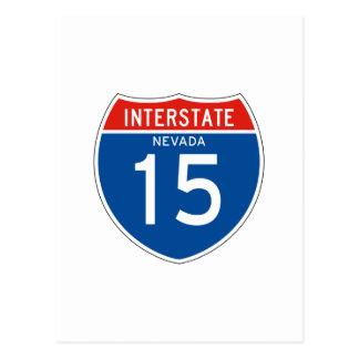 Interstate Sign 15 - Nevada Postcard