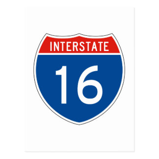 Interstate Sign 16 Postcard