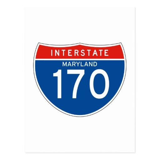 Interstate Sign 170 - Maryland Postcard