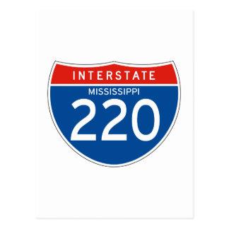 Interstate Sign 220 - Mississippi Postcard