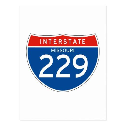 Interstate Sign 229 - Missouri Post Card