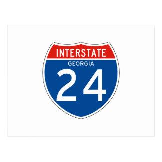 Interstate Sign 24 - Georgia Postcard