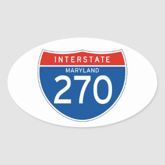 Interstate Sign 270 - Maryland Oval Sticker
