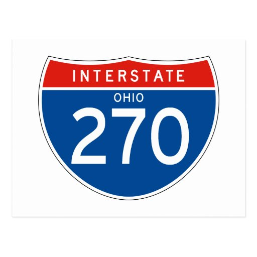 Interstate Sign 270 - Ohio Postcard