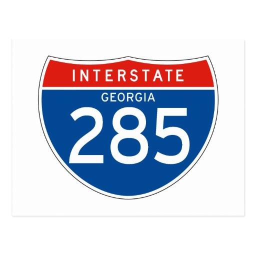 Interstate Sign 285 - Georgia Post Cards